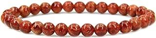 Amandastone Gem Semi Precious Gemstone 6mm Round Beads Stretch Bracelet 7