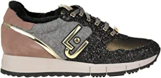 Luxury Fashion | Liu Jo Women MCGLCAK0000B8016I Grey Fabric Sneakers | Season Outlet