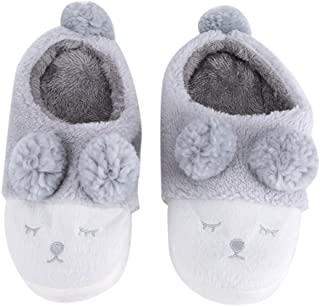 Yosoo Winter Warm Short Plush Indoor Slippers Cute Cartoon Sheep Lamb Soft Indoor Home Wear Slippers House Shoes Soft Sole Women Indoor Shoe Couples House Slipper