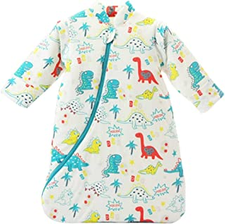 EsTong Unisex Baby Sleep Bag Wearable Blanket Cotton Sleeping Bag Long Sleeve Nest Nightgowns Dinosaur/3.5 Tog S/6-12 Months