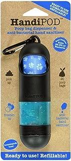 HandiPOD Dog Poop Bag and Hand Sanitizer Dispenser, Black