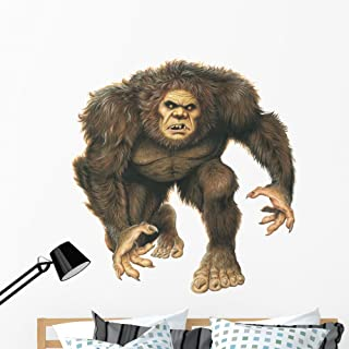 Sasquatch Big Foot Monster Wall Decal by Wallmonkeys Peel and Stick Graphic (48 in H x 46 in W) WM102390