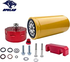 SPELAB Diesel Fuel Filter & Adapter Kit for 2001-2016 Chevy GMC Duramax LB7/LLY/LBZ/LMM/LML in Red