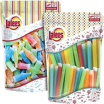 Lalees Nik L Nip Candy Wax - Wax Bottles & Candy Wax Candy Sticks - 24 Oz   12 Oz Each  - Bulk Retro Candy - Candy Drinks