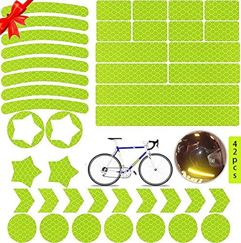 Pegatinas Reflectantes Bicicleta,Pegatinas Reflectantes,Adhesivos Reflectantes anticolisión,Pegatinas Reflectantes Kit,Adhesivos Reflectantes,Reflectores Adhesivos para Bicicleta/Cochecito/Casco/Moto