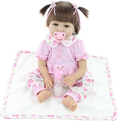 Broadroot Reborn Baby Nette Puppe Simulation Kinder Silikon Baumwolle Geschenke Schlafen Playmate Stofftiere