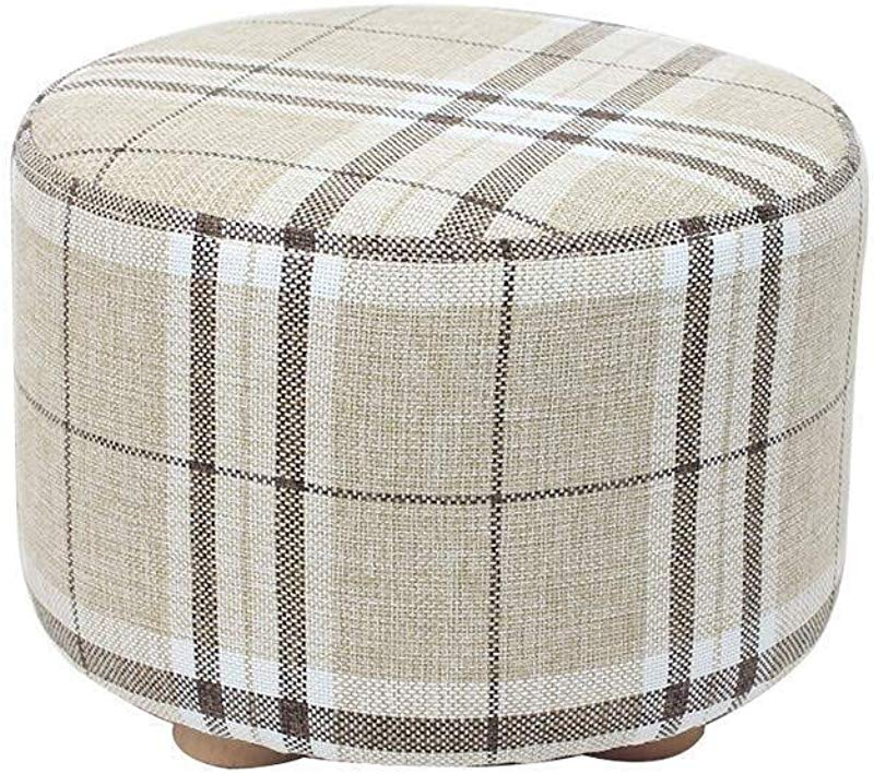 Carl Artbay Wooden Footstool Solid Wood Change Shoe Bench Wear Shoe Bench Home Sofa Bench Bench Fabric Cotton Set Washable Design Home Color B
