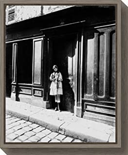 Framed Canvas Wall Art Print France 1921 Brothel Versailles Petit Place by Eugene Atget 16.00 x 19.62