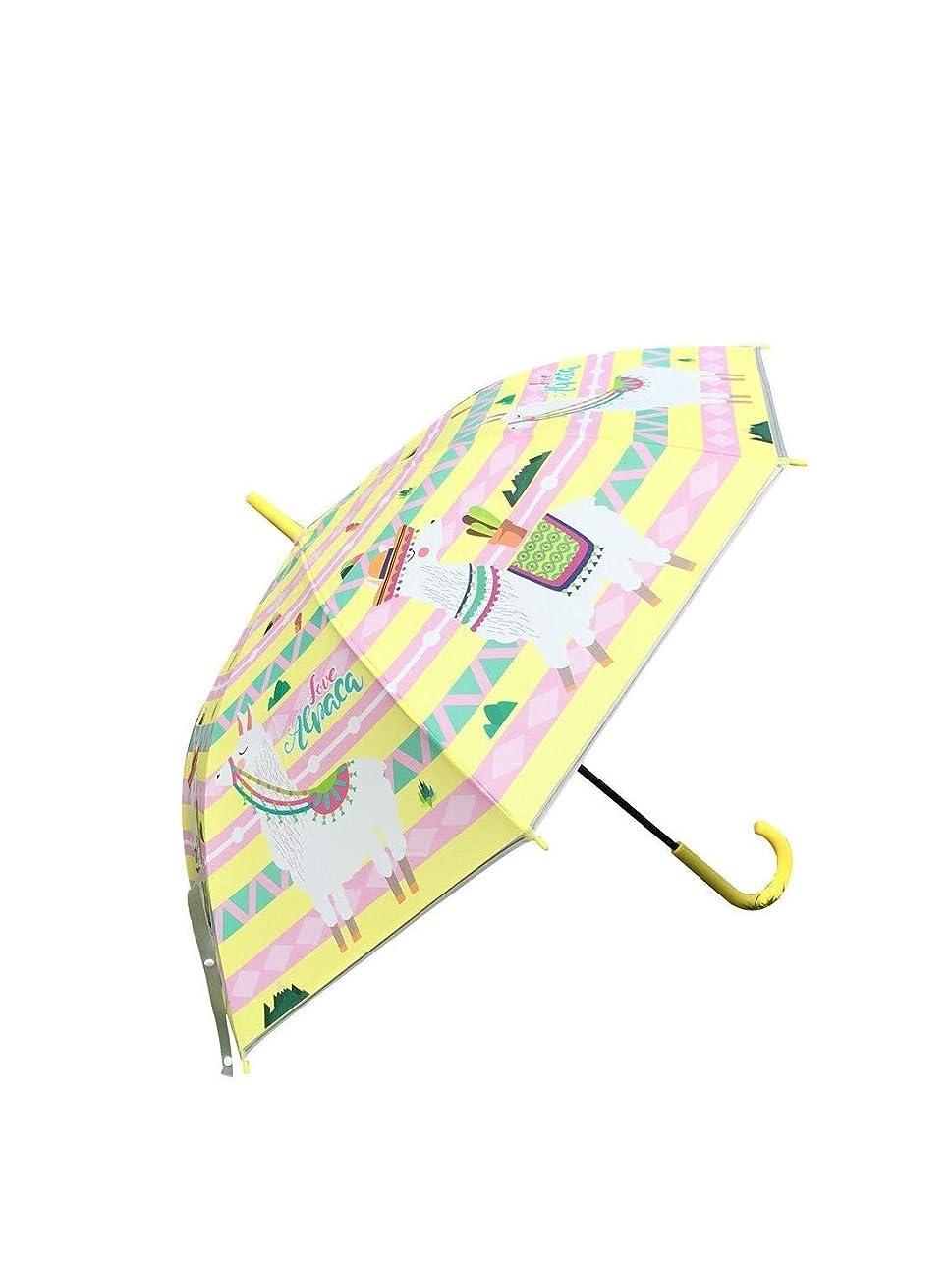 夜明けオフェンスロールqingyang 傘長傘ジャンプ傘レディース可愛いプリント軽量手開きかわいいEVA携帯用新しい持ちやすい(イエロー)