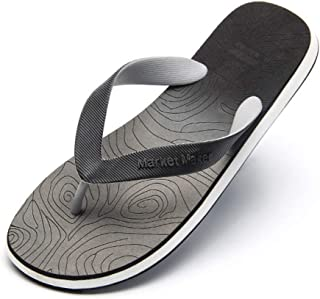 Men's Summer Flip Flops, Gradient Design Slippers Sandals Comfortable Non-Slip Toe Post Thongs Beach Shoes for Apartments, Hotels, Houses,Travel,Gray,40