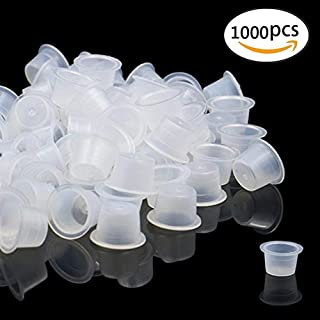 Tattoo Ink Caps - Yuelong 1000 pcs Disposable Plastic Cheap Microblading Tattoo Ink Cups, Pigment Ink Cap 13MM Medium For Tattoo ink,Tattoo Kits, Tattoo Supplies
