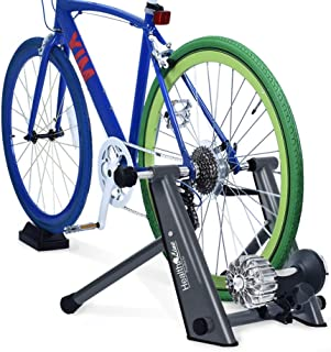 HEALTH LINE PRODUCT Indoor Fluid Bike Trainer, Stationary Exercise Trainer Stand, Fit 26-29