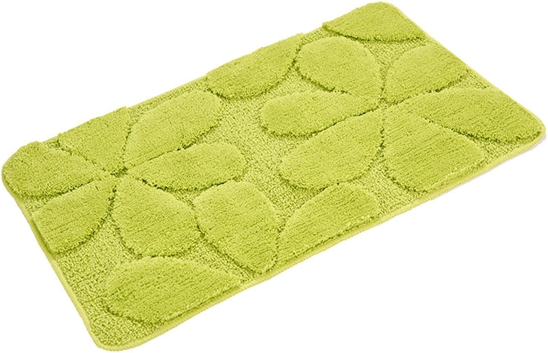LJ&XJ Water Absorption doormats,Lucky Grass Carpet Anti Slip Area Rugs Three-Dimensional Pattern Rugs for Living Room Door Doorway Bedroom Bedside mat-A 60x90cm(24x35inch)