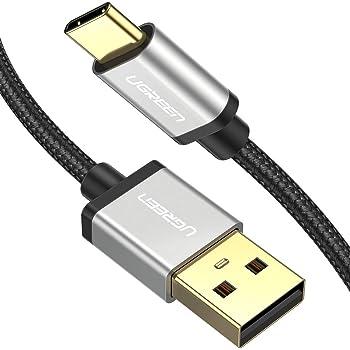 Cable USB C 3.1, UGREEN Cable Tipo C a USB A 2.0 Nylon Trenzado para Dispositivos USB Type C como MacBook, ChromeBook Pixel, Nexus, Nintendo Switch, One plus, GoPro Hero 5 6, Xiaomi, LG, Huawei (1m)