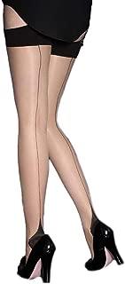 Womens Full Figure Plus Size Cuban Heel Stockings Thigh Highs Hosiery For Garter Belts