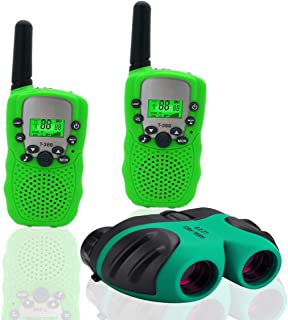 JRD&BS WINL Toys for 4-5 Year Old Boys,Long Range Walkie Talkies for Kids and Compact Telescope Boys Gifts 4-8 Year Old to Bird Watching,Outdoor Toys Games Gifts for 3-12 Year Old Boys Presents,Green