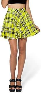 Womens Summer Plus Size Stretchy Plaid Print Pleated Mini Skirts
