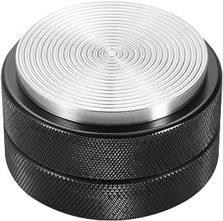 Prensadores de caf/é Sabotaje base plana inoxidable en Acero Di/ámetro Negro Di/ámetro 57.5mm
