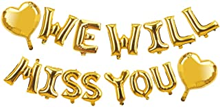 مستلزمات وديكورات الحفلات - مجموعة زينة لافتة بالونات - We Will Miss You - ديكورات الحفلات بعيدًا - ديكورات حفلات العودة إ...