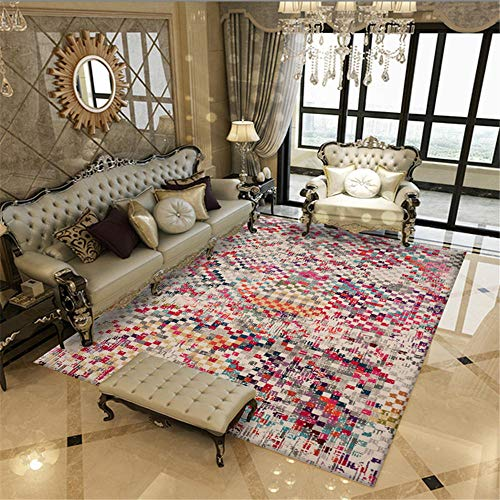 alfombras de habitacion juvenil alfombra para niños Alfombra vintage roja Sala de estar rectangular Decoración de la decoración suave caminar comodidad cuadros habitacion juvenil 160X200CM 5ft 3'X6ft