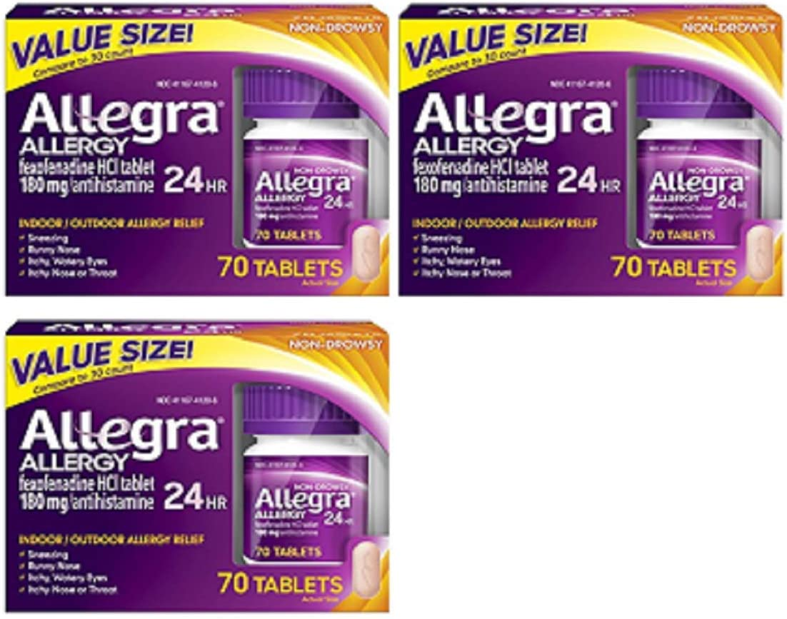 Allegra Allergy 24 Hour Beauty products - 70 Tablets 3 mg = each 210 PACK Sale SALE% OFF 180