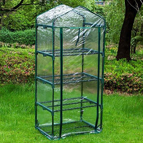 LWAN3 Gewächshausabdeckung , wasserdichte, transparente PVC-Abdeckung für 4-stöckiges Gewächshaus, Gewächshaus, Zelte, Pflanzenabdeckung für Gartenpflanzen, Blumenhaus, 69 x 49 x 160 cm
