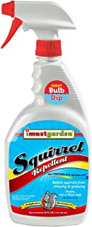 I Must Garden Squirrel Repellent 32oz: Also Repels Chipmunks and Raccoons - Stops Nesting and Chewing on: Plants, Vehicle Wire, Fruit Tree, Attic, Furniture, Deck, Bulbs