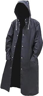 F Fityle Men Women Long Raincoat Waterproof Reusable Rain Poncho with Hood Hiking Fishing Long Sleeve Rain Jacket with But...