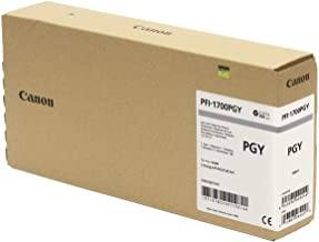 Canon PFI-1700PGY ImagePrograf PRO-2000 4000 Ink Cartridge (Gray) in Retail Packaging