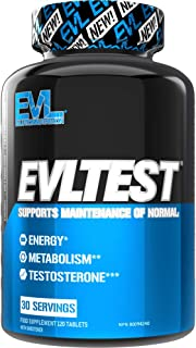 Evlution Nutrition Testosterone Booster EVL Test Training and Recovery Amplifier For Men, Supports Natural Testosterone Le...