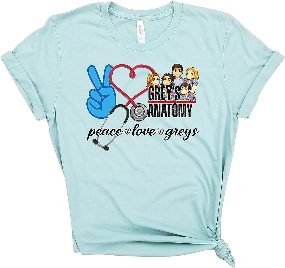 Peace Love Grey's Anatomy - I'm a greysaholic, inspired by Grey's Anatomy tv show, dark and twisty.