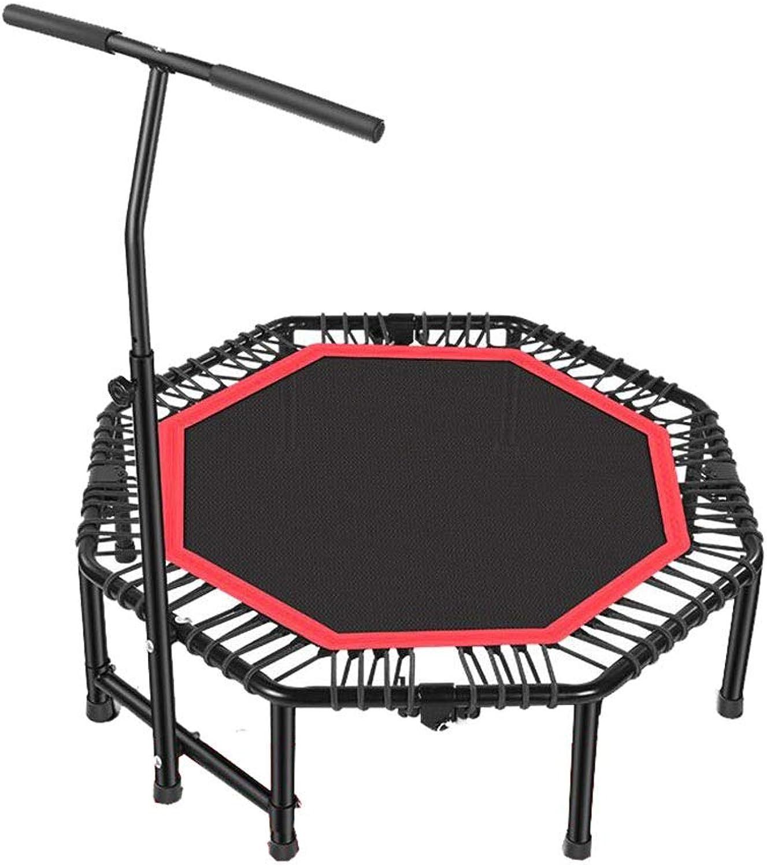 ZQ QZ Kindertrampolin Faltbares Trampolin Einstellbarer Lenker Indoor Outdoor Mini-Trampolin (Farbe   rot)
