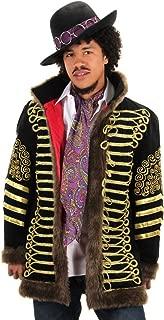Jimi Hendrix Hat, Scarf & Jacket Costume Set, S/M Black