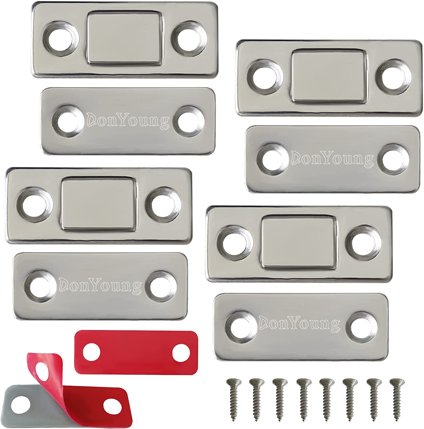 DonYoung Magnetic Door Catch Ranking integrated 1st place 4 Thin Ultra Cabinet Pack Regular dealer
