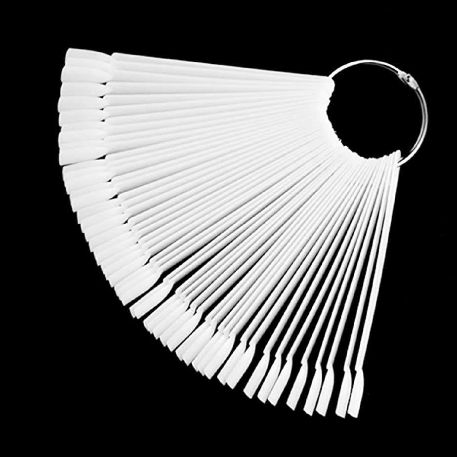 振動させる冒険者極めて50 /セットネイルアートのヒントディスプレイ練習用スタイル扇形のネイルポリッシュ見本のネイルカラーサンプラーネイルアートの練習ツール