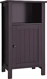 VASAGLE Bathroom Floor Storage Cabinet Adjustable Shelf Espresso UBCB45Z