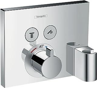 HANSGROHE 汉斯格雅 ShowerSelect隐蔽温控器托架,两种模式,铬