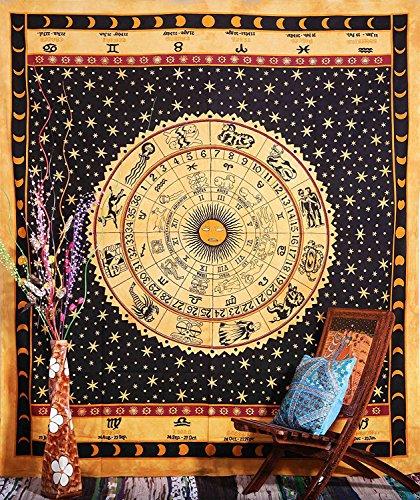 Indianisches Sternzeichen Hippy Hippie Wandteppichen, Wand-Sofa Bezug, Strand Decke, Wohnheim Decor gelb