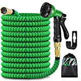 Image of Garden Hose Pipe, 50 ft Expandable Flexible Watering Hose with Multi Spray Water Gun and 8 Function Spray Included(Black, 50FT)