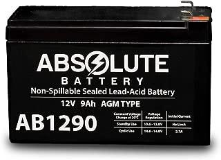AB1290 12V 9AH SLA Battery Replacement for Vexilar UP2012D FL-20 Ultra Pack
