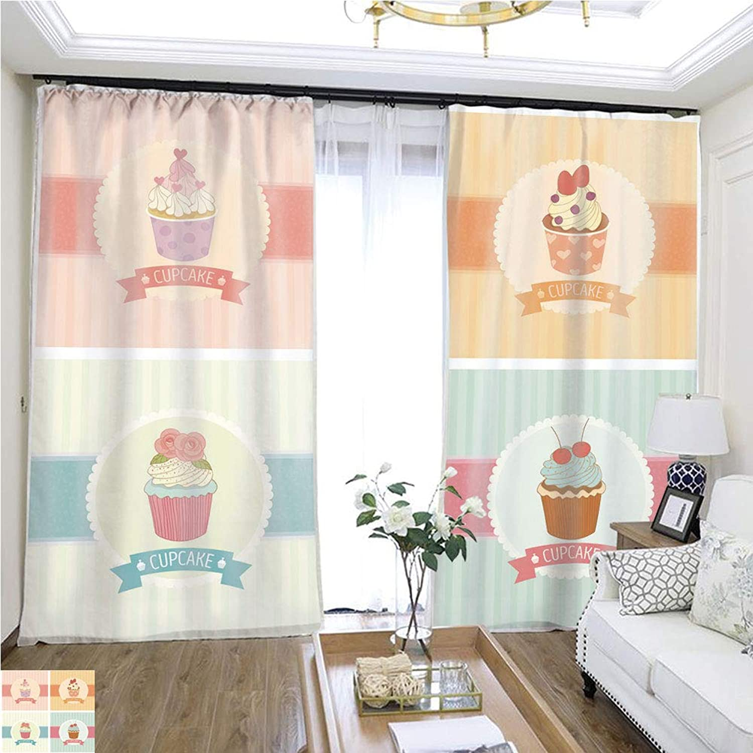 Air Port Screen cupcake9 W108 x L82 Provide Heat Highprecision Curtains for bedrooms Living Rooms Kitchens etc.
