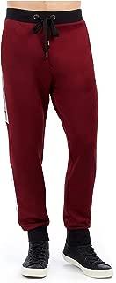 True Religion Men's Racer Stripe Active Sweat Pants in Ox Blood w/Silver