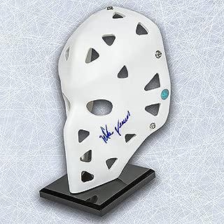 Mike Vernon Autographed Full Size White Goalie Mask - Calgary Flames - Authentic Autographed Autograph
