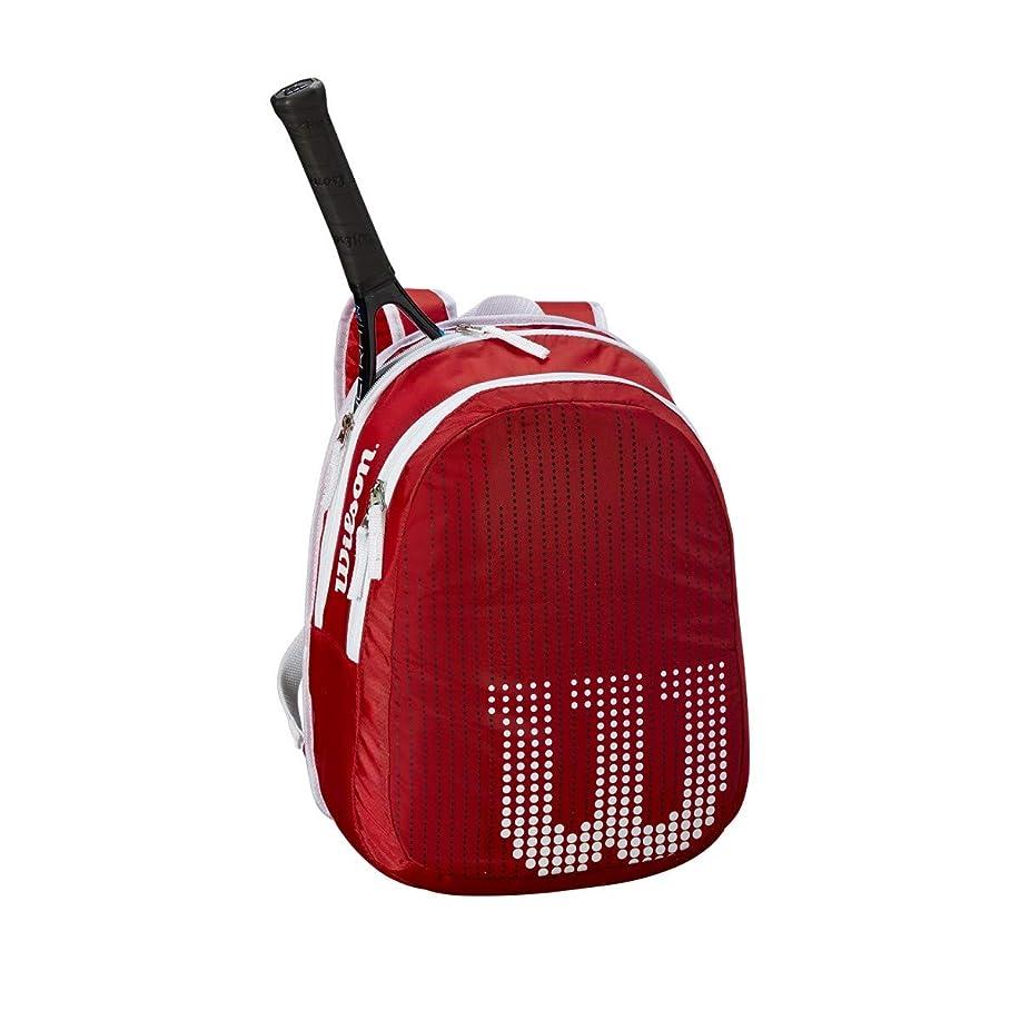 スチュワード反抗日付Wilson(ウイルソン) テニス バッグ バドミントン ラケットバッグ JUNIOR BACKPACK(ジュニアバックパック) ジュニアラケット2本収納可能 ウィルソン