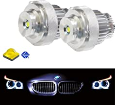 iJDMTOY LED Angel Eye Bulbs For BMW E60 E61 LCI Halogen Headlamps Trim ONLY, (2) Halo Ring Marker Bulbs Powered by Super Bright 20W High Power CREE LED Diodes