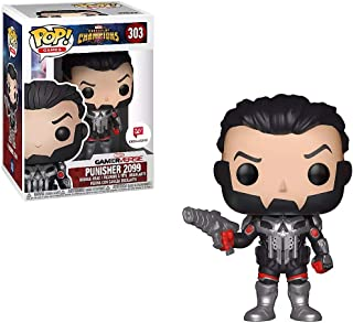 Funko Punisher 2099 (Walgreens Exclusive): Marvel - Contest of Champions x POP! Games Vinyl Figure + 1 Official Marvel Trading Card Bundle [#303 / 26849]