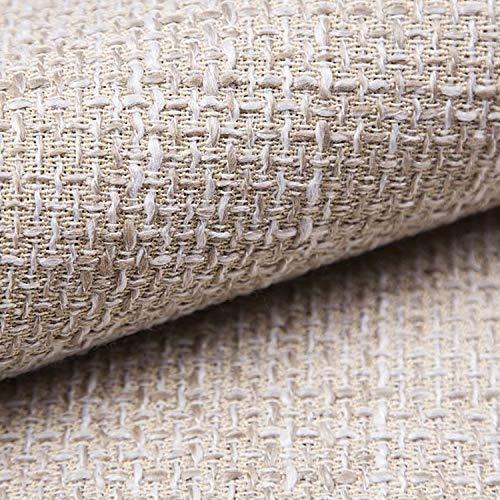 NOVELY® LANZ Premium Möbelstoff | Schwerer Webcharakter | grob gewebter Polsterstoff | Meterware | Struktur-Stoff | 15 Farben (01 Beige Creme)