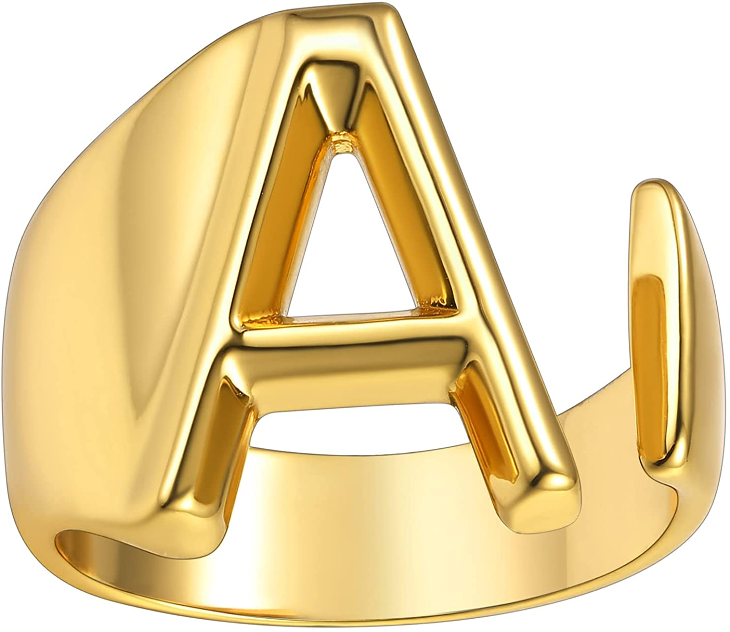 KeyStyle Ranking TOP19 GoldChic Popular shop is the lowest price challenge Jewelry Personalized Bold Letter Gold Initial