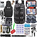 MIKA (2022 Model) Premium 72 Hours for 2 People Bug Out Bag, Emergency Survival Kit for Earthquake, Hurricanes, Floods, Tsunami, Snow Storm, Other Disasters (Black/Grey Camouflage)