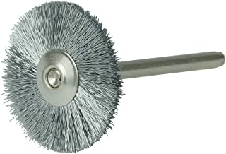 6 Pack Weiler 5 OAL 3//8 Brush Diam Silicon Carbide Abrasive 2 Brush Length 320 Grit Single Spiral Tube Brush